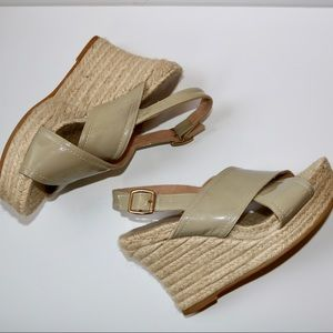 Anthropologie Bettye Muller Espadrille Tan Wedges